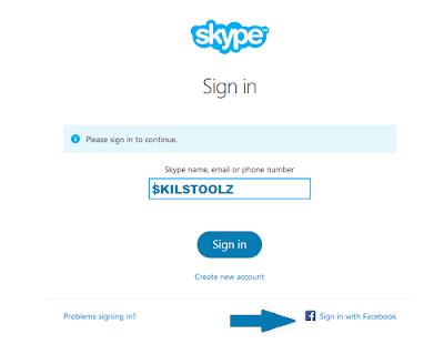Skype Login with Facebook