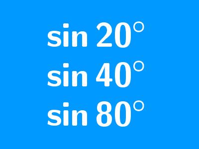 sin(20°)sin(40°)sin(80°)