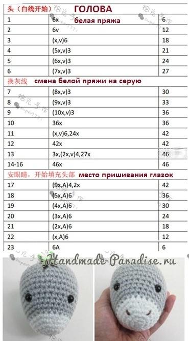 Описание вязания крючком ослика (1)