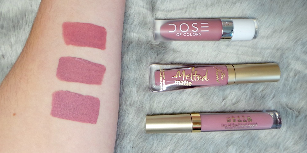 mauve liquid lipsticks