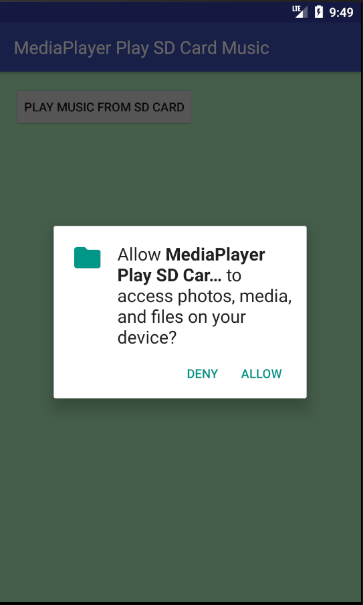 android - MediaPlayer play music from SD card