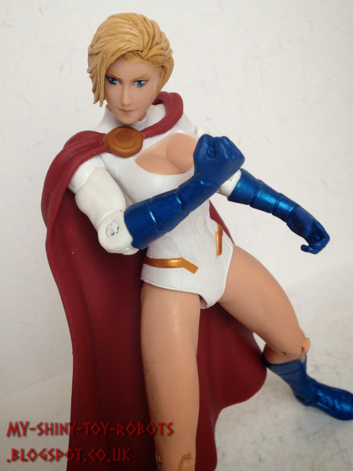 Power Girl posing