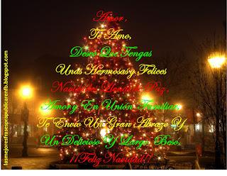 Frases De Navidad: Amor Te Amo Deseo Que Tengas Unas Hermosas