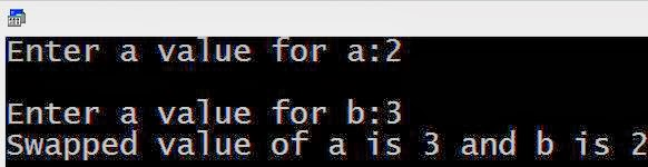 Swapping two number in C program