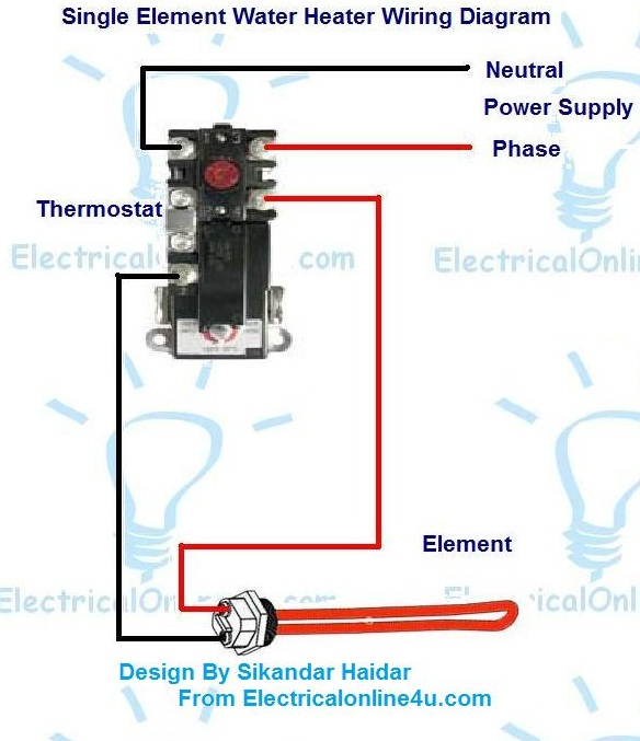 Electric Water Heater Wiring With Diagram | Electrical