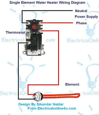Electric Water Heater Wiring With Diagram | Electrical