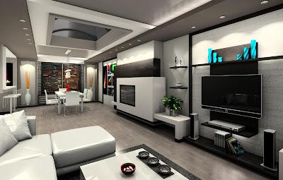 Casa futurista animada