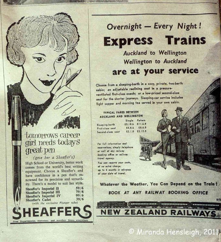Charming Newspaper Advertisements from the 1950's and 60's