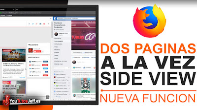 Ver Dos Paginas a la Vez en Firefox - Side View