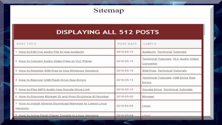 How to Add Stylish HTML Sitemap to Blogger