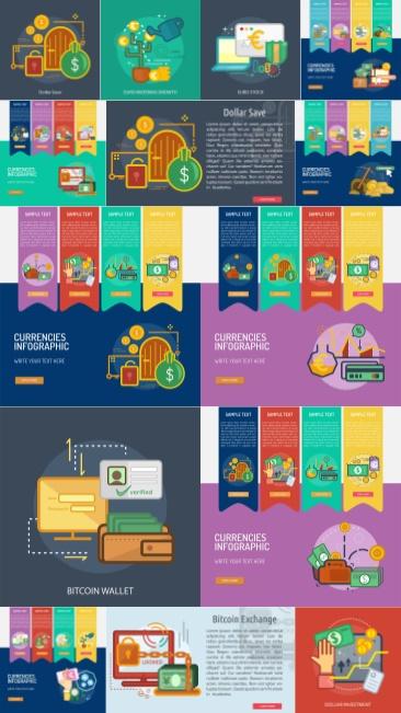 تحميل فكتور انفوجرافيك لمفهوم المال والأعمال بجودة عالية