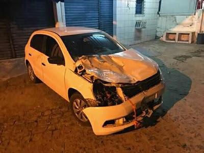 Prefeito de Cuité e seu filho sofrem acidente na BR-104