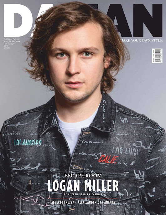 Male Fashion Trends: Logan Miller luce piezas en denim para DAMAN Magazine