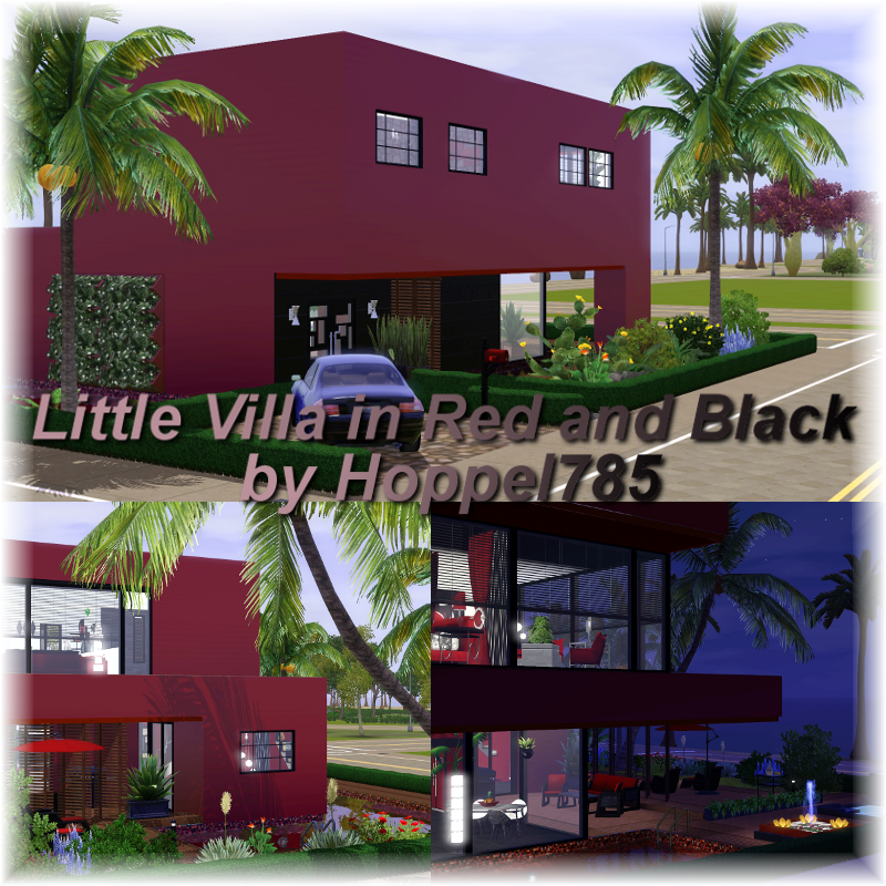 Hoppel785 s kreationen little villa in red and black by for Meine villa