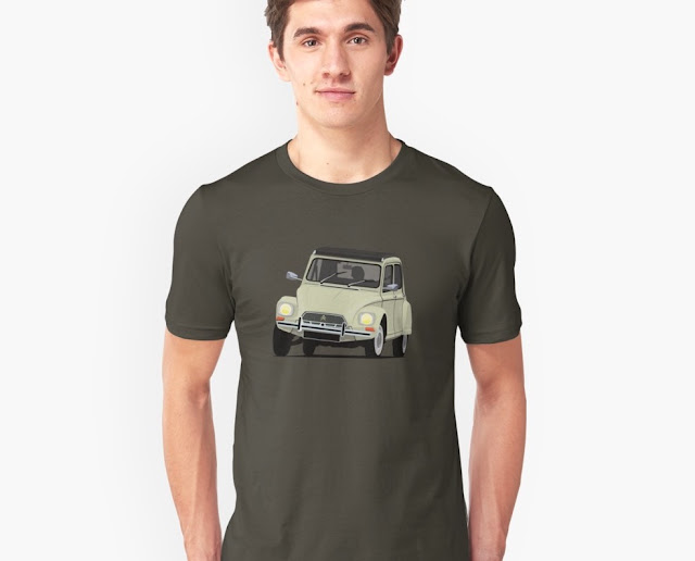 Cornering old Citroën DIane - sixties - T-shirts