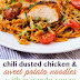 Chili Dusted Chicken & Sweet Potato Noodles with Avocado Sauce