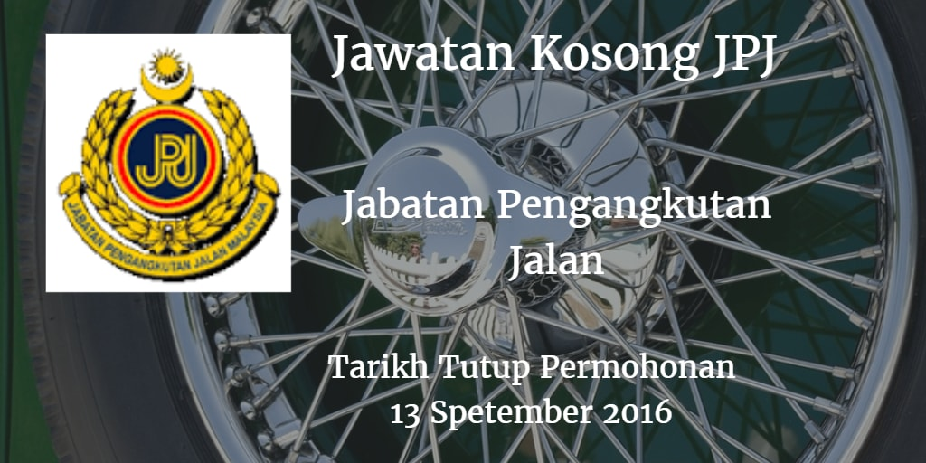 Jawatan Kosong JPJ 13 September 2016