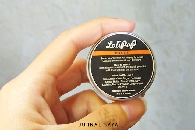 lip scrub lokal dari bahan alami