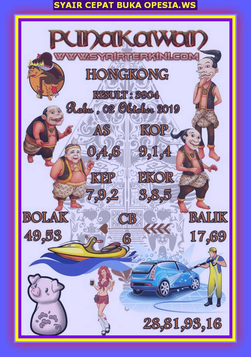 Kode syair Hongkong Rabu 2 Oktober 2019 43