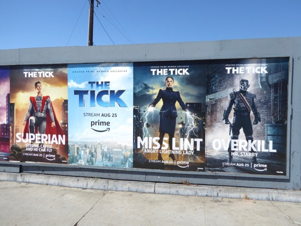 The Tick street posters