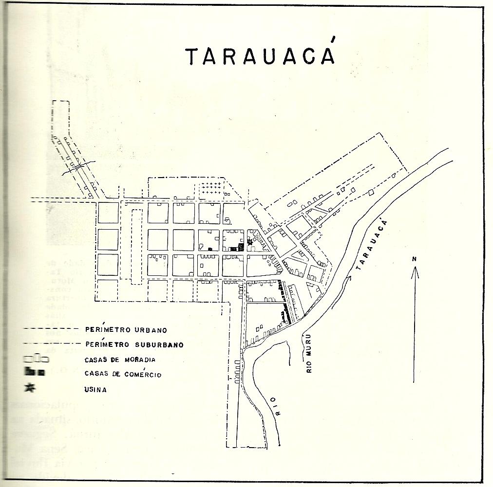 Tarauacá inicialmente foi uma cidade planejada, como revela sua planta.