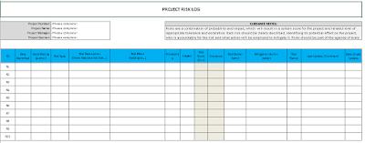 Risk Log Template