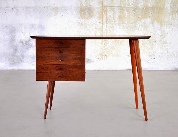 Select Modern Paul Mccobb Style Desk Vanity Table