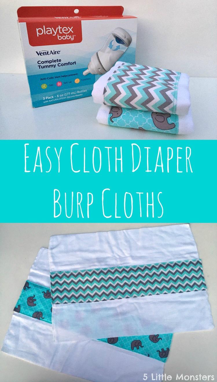 5 Little Monsters Easy Cloth Diaper Burp Cloths