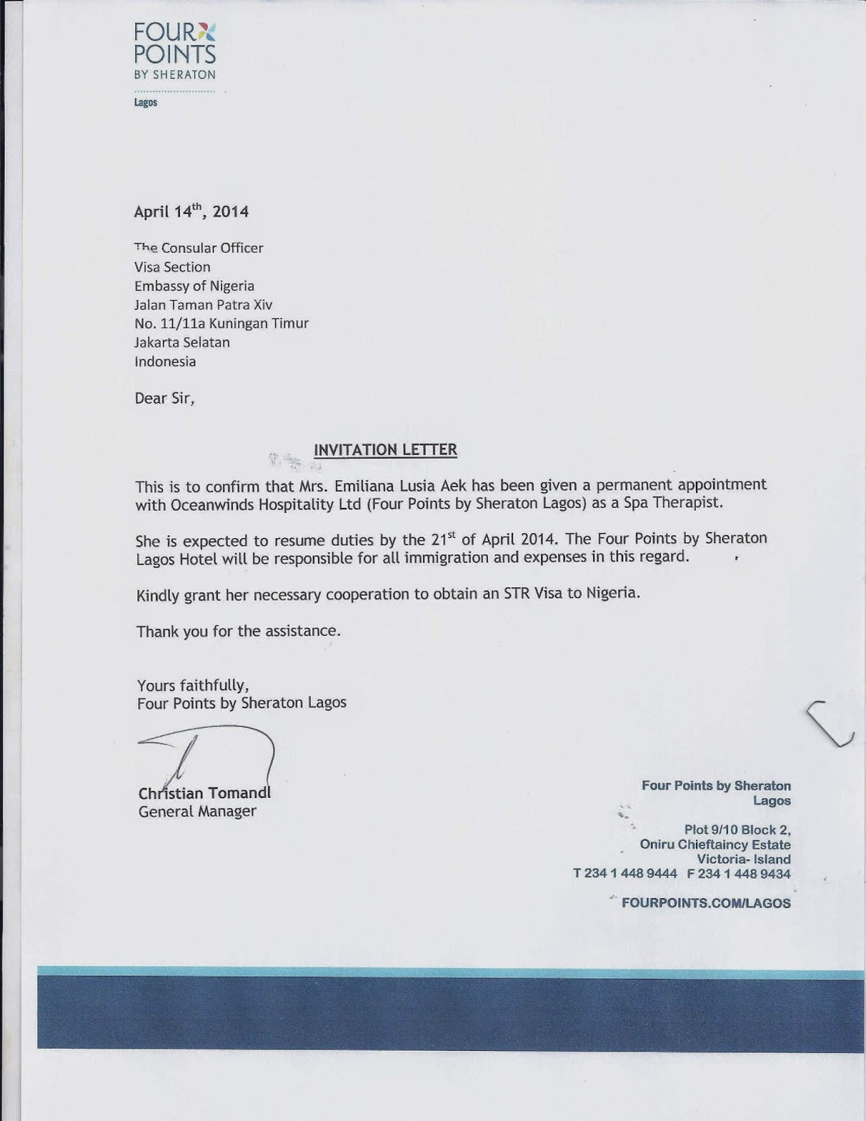 letter of invitation to nigeria format jangkar groups visa nigeria for str subject to 25709 | Invitation Letter from GM