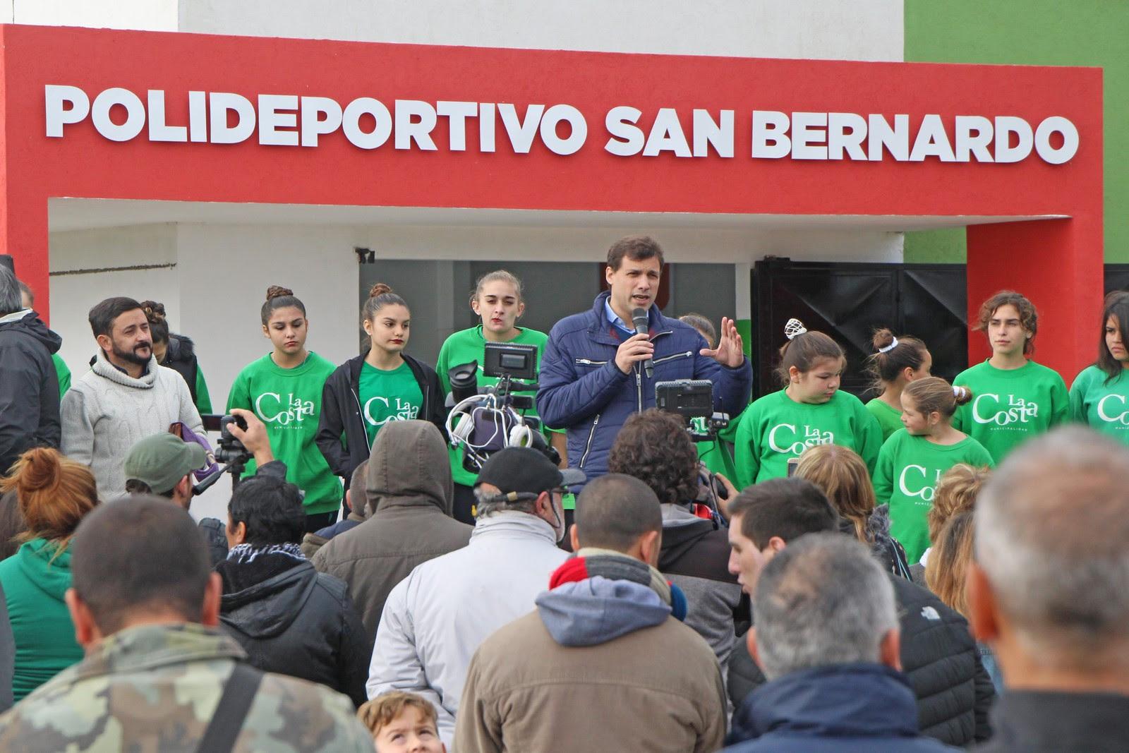 Qued Inaugurado El Polideportivo De San Bernardo