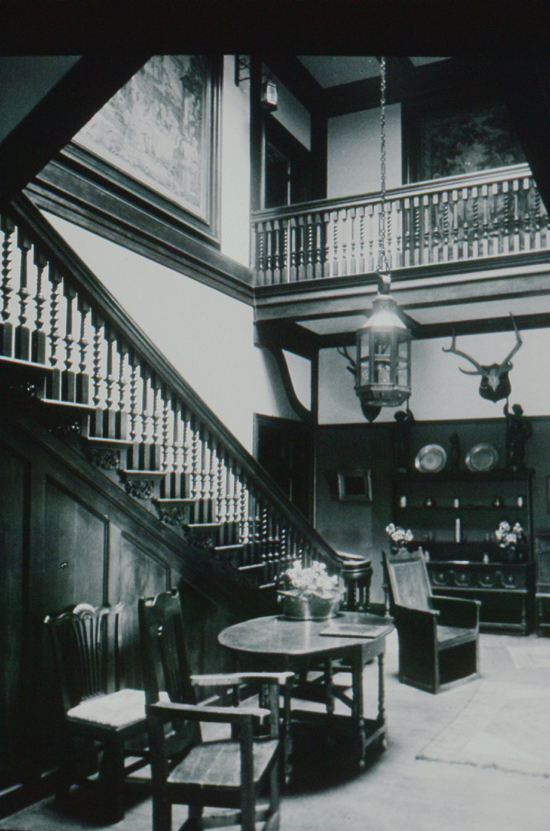 Photograph of Gobions staircase at The Hook, Northaw. Image from the NMLHS
