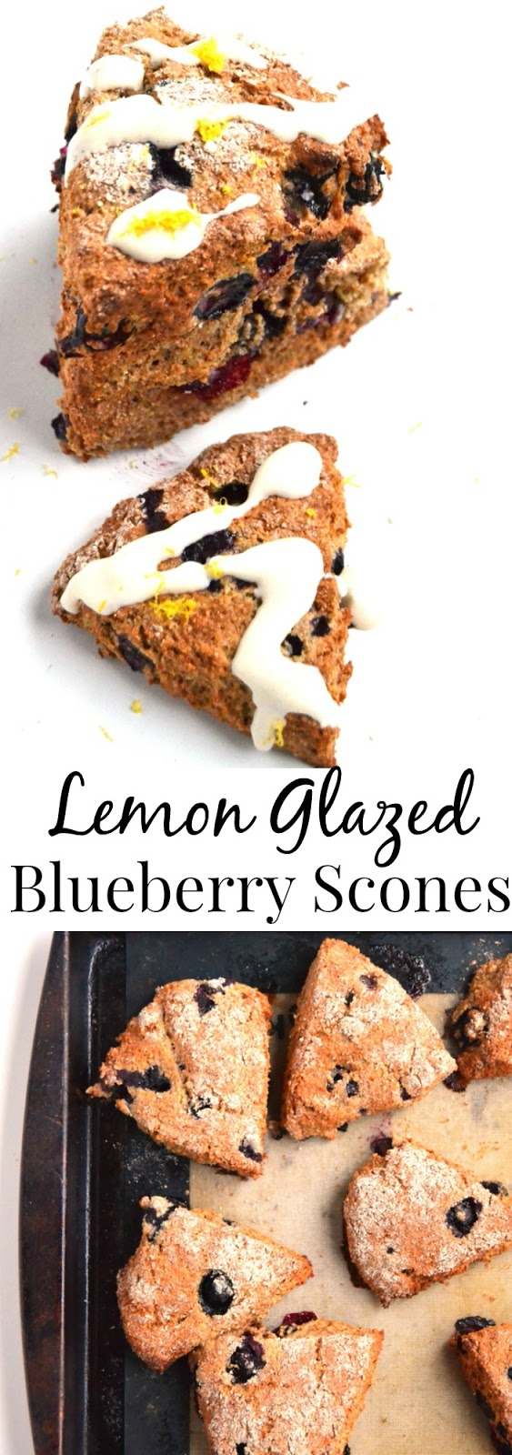 Lemon Glazed Blueberry Scones are simple to make and healthier than other versions with whole-wheat flour, fresh blueberries and a nutritious, flavorful glaze. www.nutritionistreviews.com