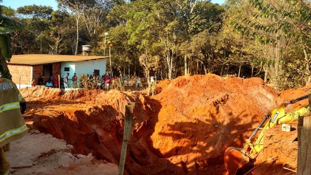Morro da Cruz: passam de 20 horas resgate do corpo de operário que caiu em cisterna