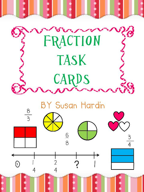3rd Grade Grapevine: Fraction Game, Task Cards and Manic Monday ...