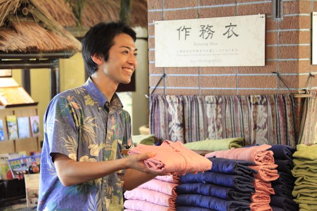 アンダリゾートでは4種類の作務衣をSSSサイズ~3Lまでご用意しております。