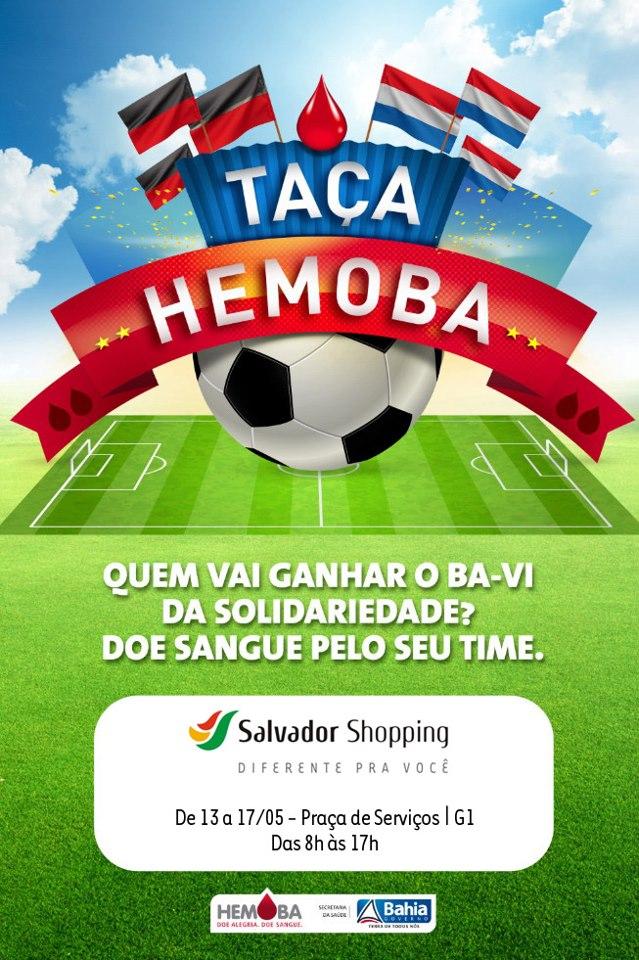 bbe98028c Salvador Shopping apoia Taça HEMOBA da Solidariedade