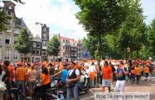 festa para recepcionar os jogadores de futebol da Holanda