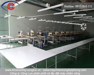 Hình ảnh nhà xưởng rộng và nhiều máy móc sản xuất.