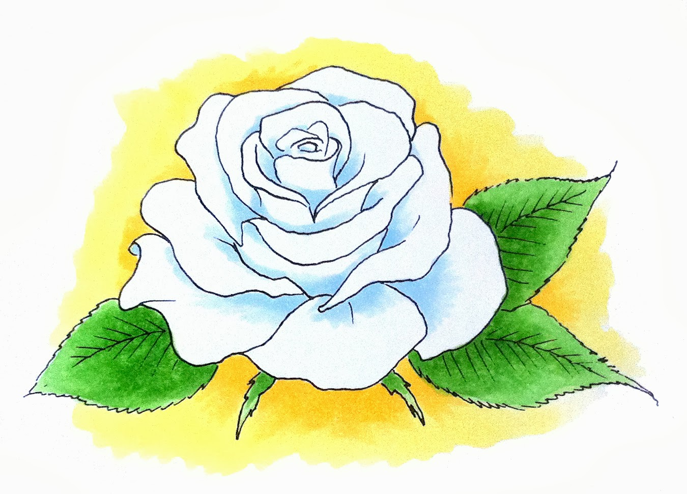 This is a picture of Superb Rose Petal Drawing