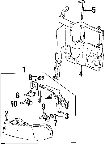 GMC Sierra 06 Headlamp Diagram