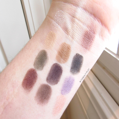 thebalm rockstar palette swatches - the beauty puff
