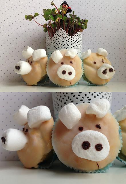 Rezept zum ausdrucken Schweinchen Muffins