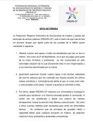Nota de prensa FREAPA sobre EBAU