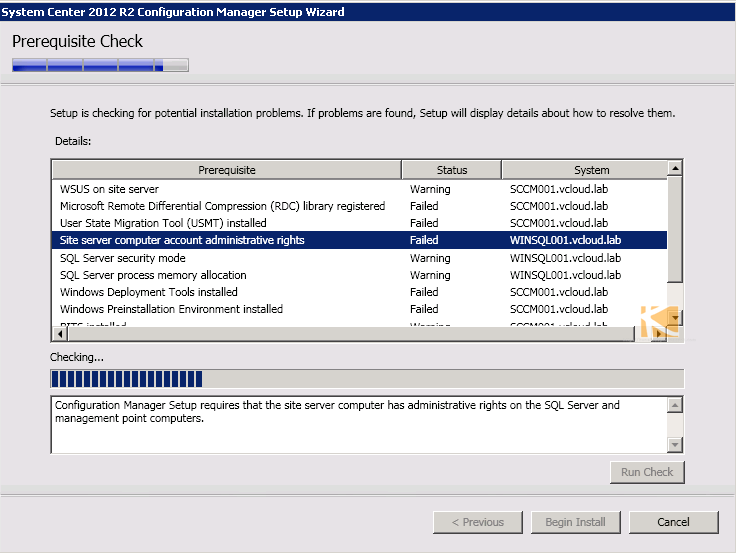 vGeek: Resolved SCCM 2012 R2 - Site server computer account