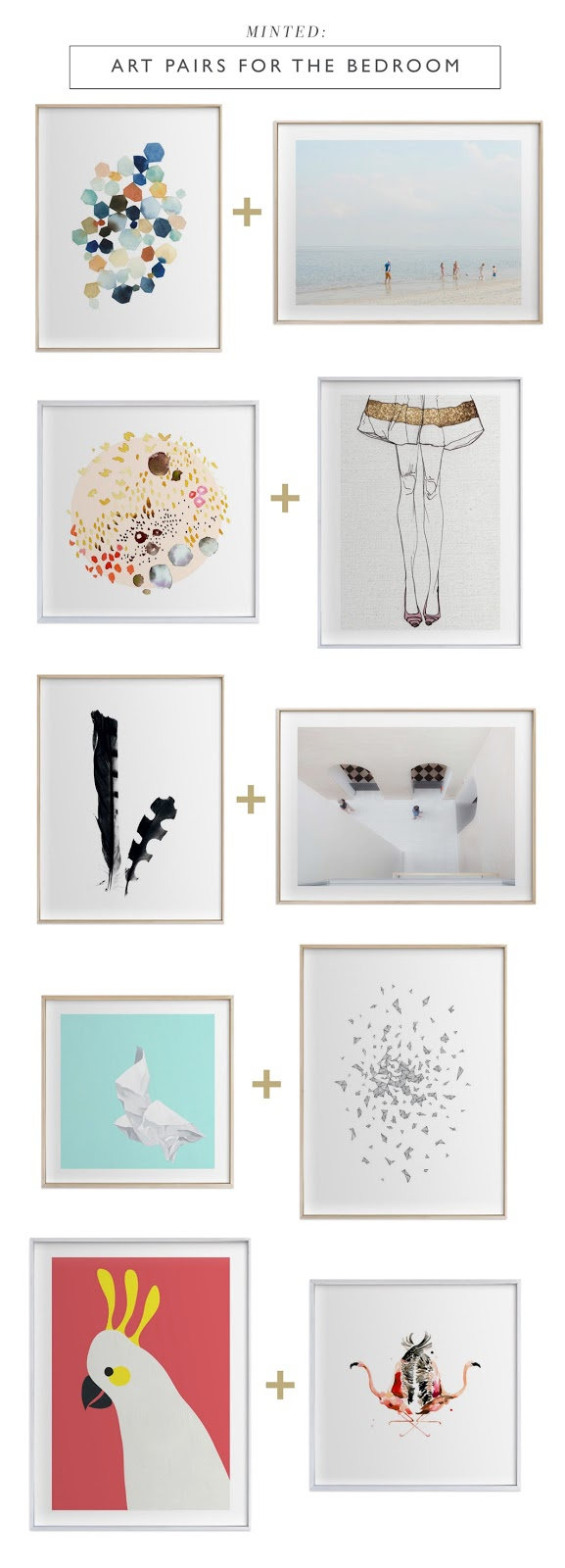 Minted art pairs for the bedroom | RamblingRenovators.ca