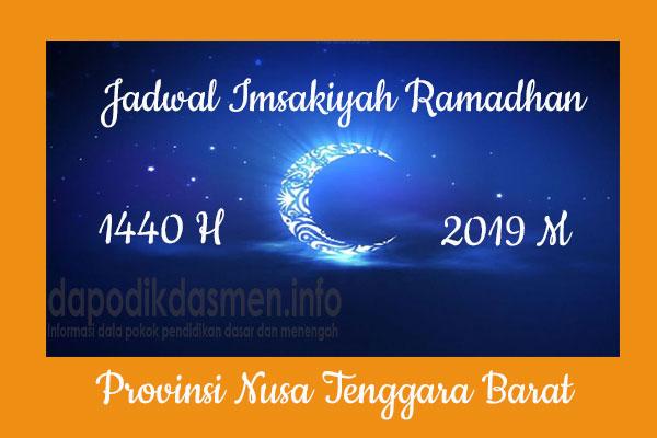 Jadwal Imsakiyah Ramadhan Provinsi Nusa Tenggara Barat