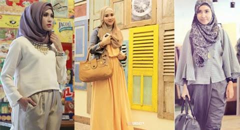 model baju kerja hijab orang gemuk