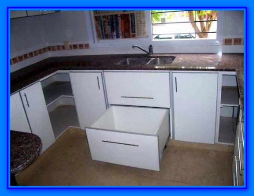Muebles de cocina detalle para instalar cajones