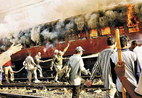 The Sabarmati Express was on fire, Godhra