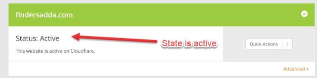 Status is active